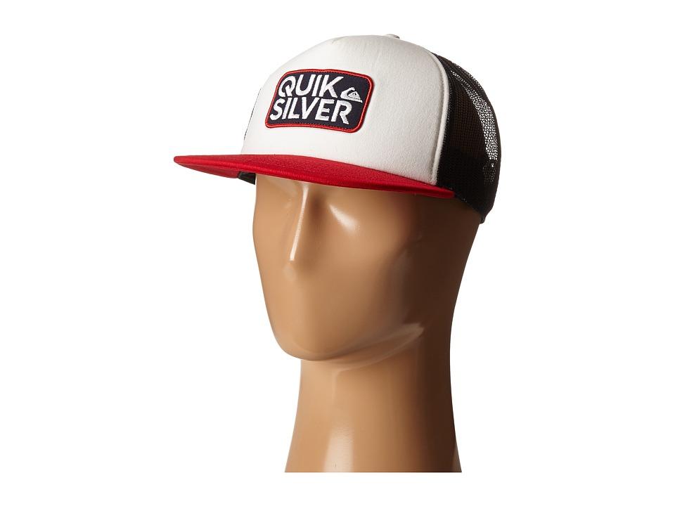 Quiksilver - Barstay Trucker Hat (White) Caps