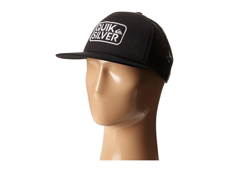 Quiksilver - Barstay Trucker Hat (Black) Caps