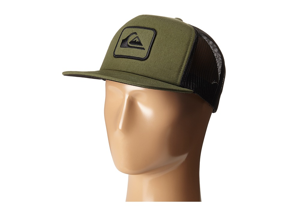 Quiksilver - Ropes Trucker Hat (Bronze Green) Caps