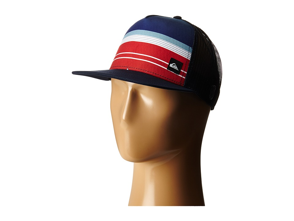 Quiksilver - Everyday Stripe Trucker (Navy Blazer) Caps