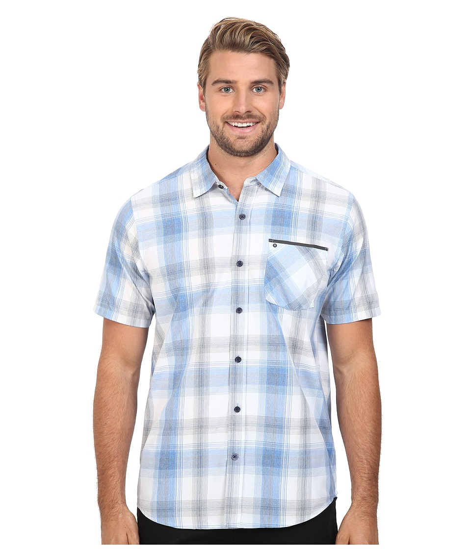 Hurley - Dri-Fit Steady Short Sleeve Woven (Fountain Blue) Men's Clothing