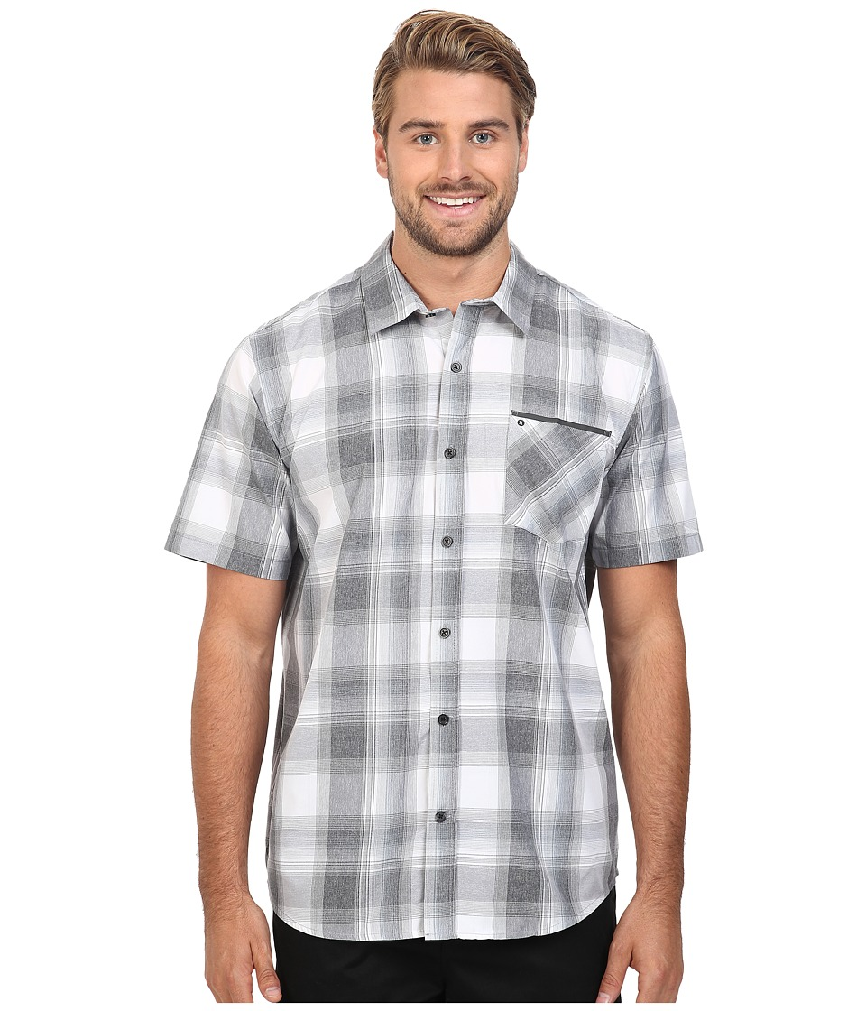 Hurley - Dri-Fit Steady Short Sleeve Woven (Anthracite) Men's Clothing