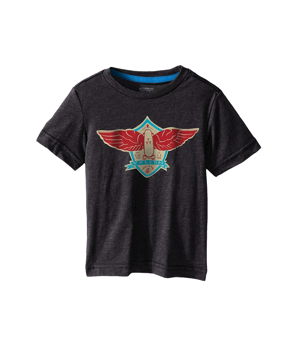 Volcom Kids - Flow Short Sleeve Shirt (Toddler/Little Kids) (Heather Black) Boy
