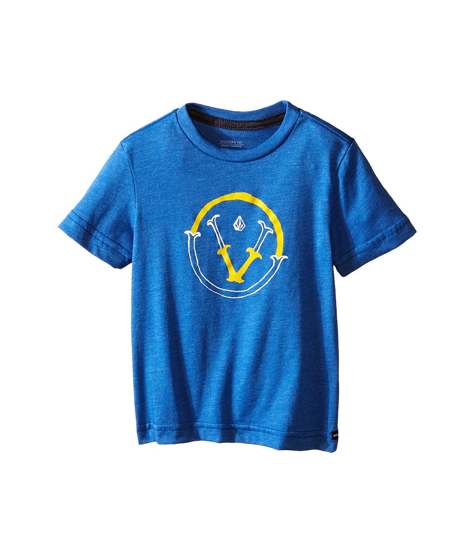Volcom Kids - Vee Short Sleeve Shirt (Toddler/Little Kids) (Estate Blue) Boy's T Shirt