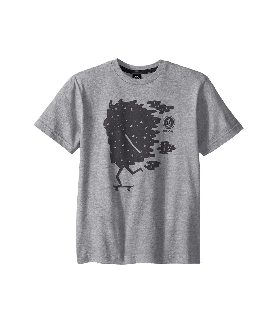 Volcom Kids - Roller Space Short Sleeve Shirt (Big Kids) (Heather Grey) Boy's Short Sleeve Pullover