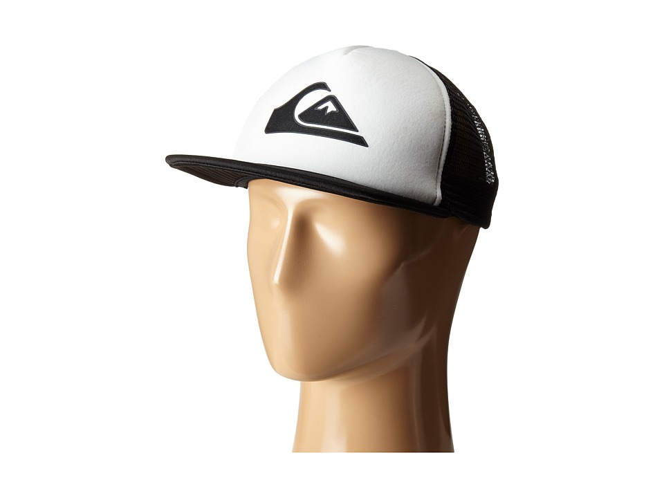 Quiksilver - Snapper Trucker Hat (White) Caps