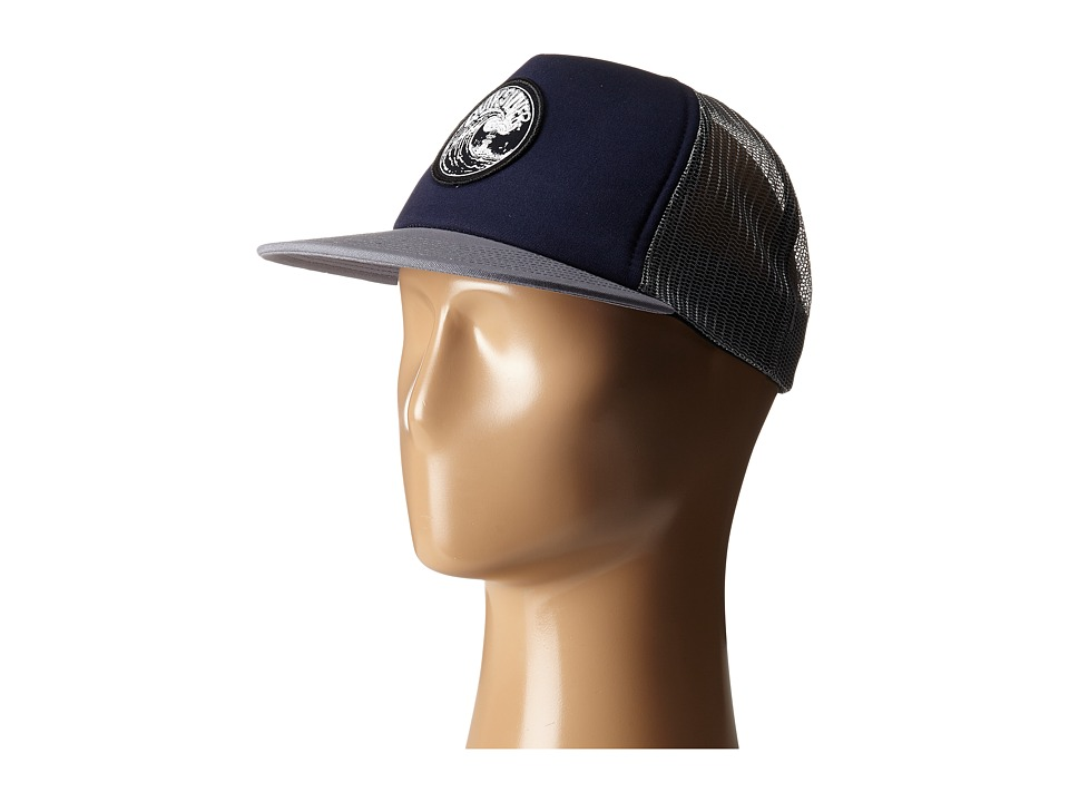 Quiksilver - Fission Trucker Hat (Navy Blazer) Caps