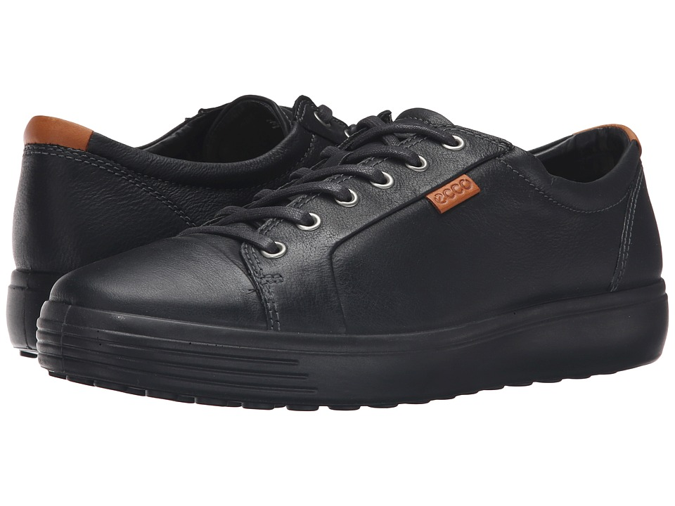 ECCO Soft VII Sneaker (Black/Black) Men