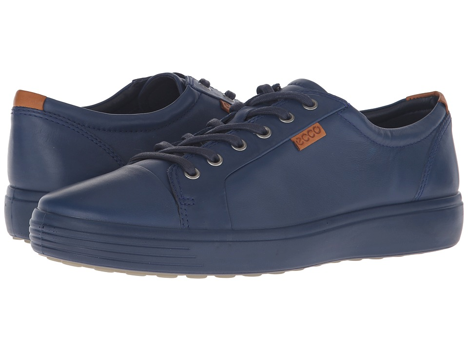ECCO - Soft VII Sneaker (True Navy/True Navy) Men's Lace up casual Shoes