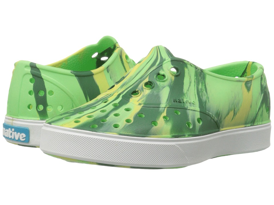 Native Kids Shoes - Miller Marbled (Toddler/Little Kid) (Mescal Green/Shell White/ Marbled) Girl's Shoes