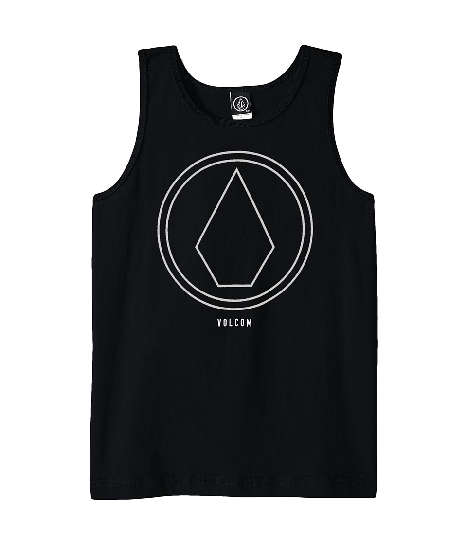 Volcom Kids - Pin Line Tank Top (Big Kids) (Black) Boy's Sleeveless