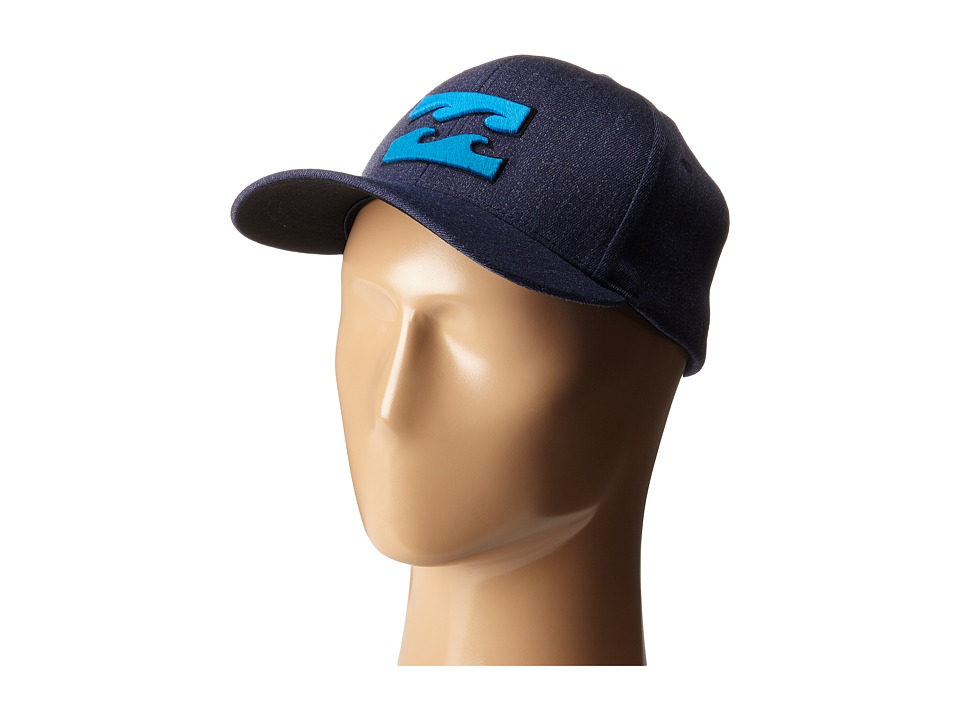 Billabong - All Day Heather Flexfit Hat (Navy Heather) Caps