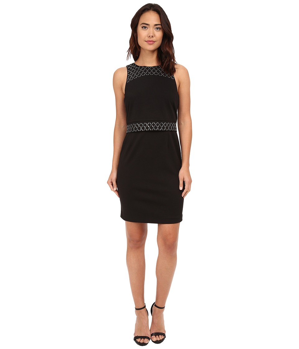 CATHERINE Catherine Malandrino - Goldie Dress (Noir/Noir) Women's Dress