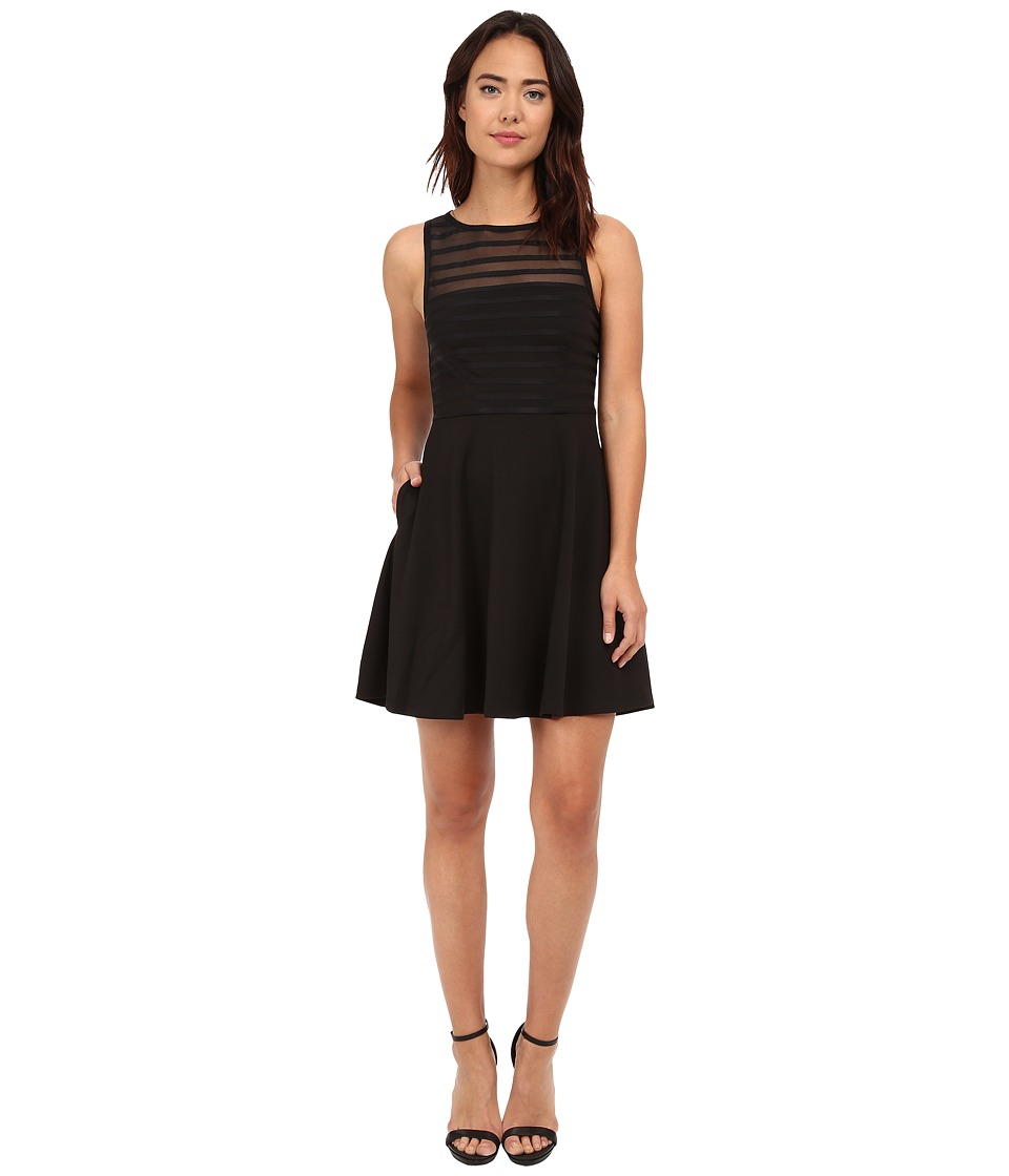 CATHERINE Catherine Malandrino - Fisher Dress (Noir/Noir) Women's Dress