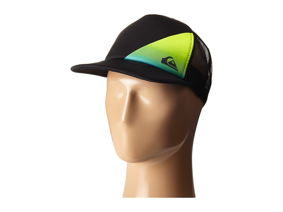 Quiksilver - AG47 New Wave Trucker Hat (Big Kid) (Black) Caps