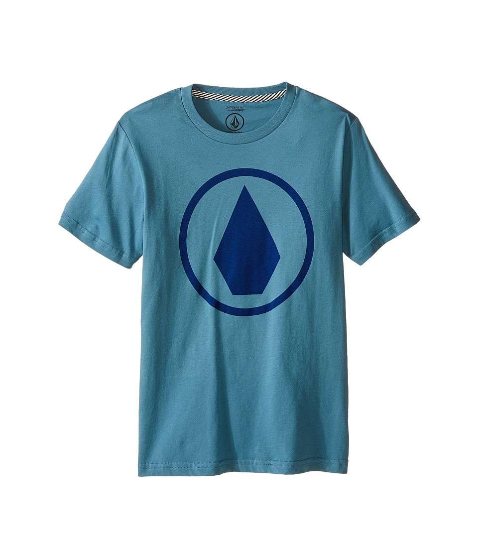 Volcom Kids - Solid Stone Short Sleeve Shirt (Big Kids) (Stormy Blue) Boy