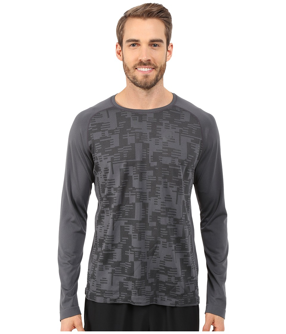 ASICS Long Sleeve Seamless Top (Dark Grey) Men