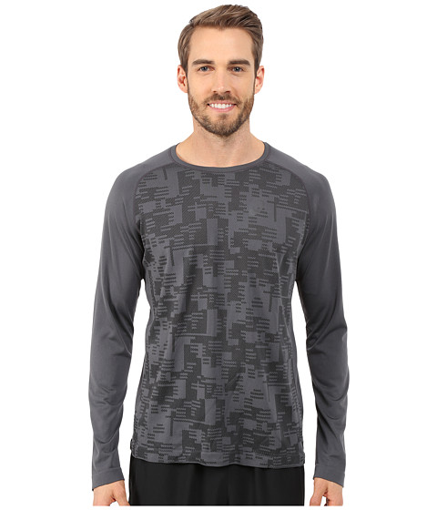 ASICS - Long Sleeve Seamless Top (Dark Grey) Men's T Shirt
