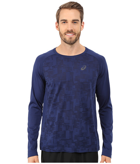 ASICS - Long Sleeve Seamless Top (Indigo Blue) Men's T Shirt