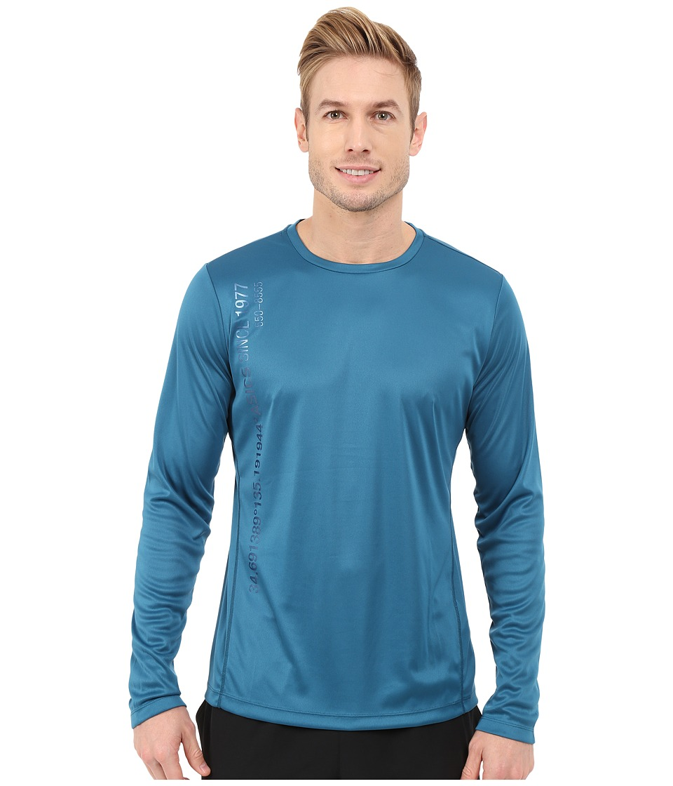 ASICS - Long Sleeve Graphic Top (Mosaic Blue) Men