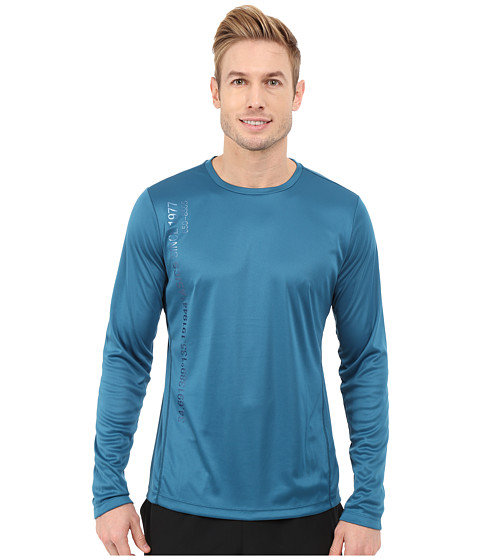 ASICS - Long Sleeve Graphic Top (Mosaic Blue) Men's Workout