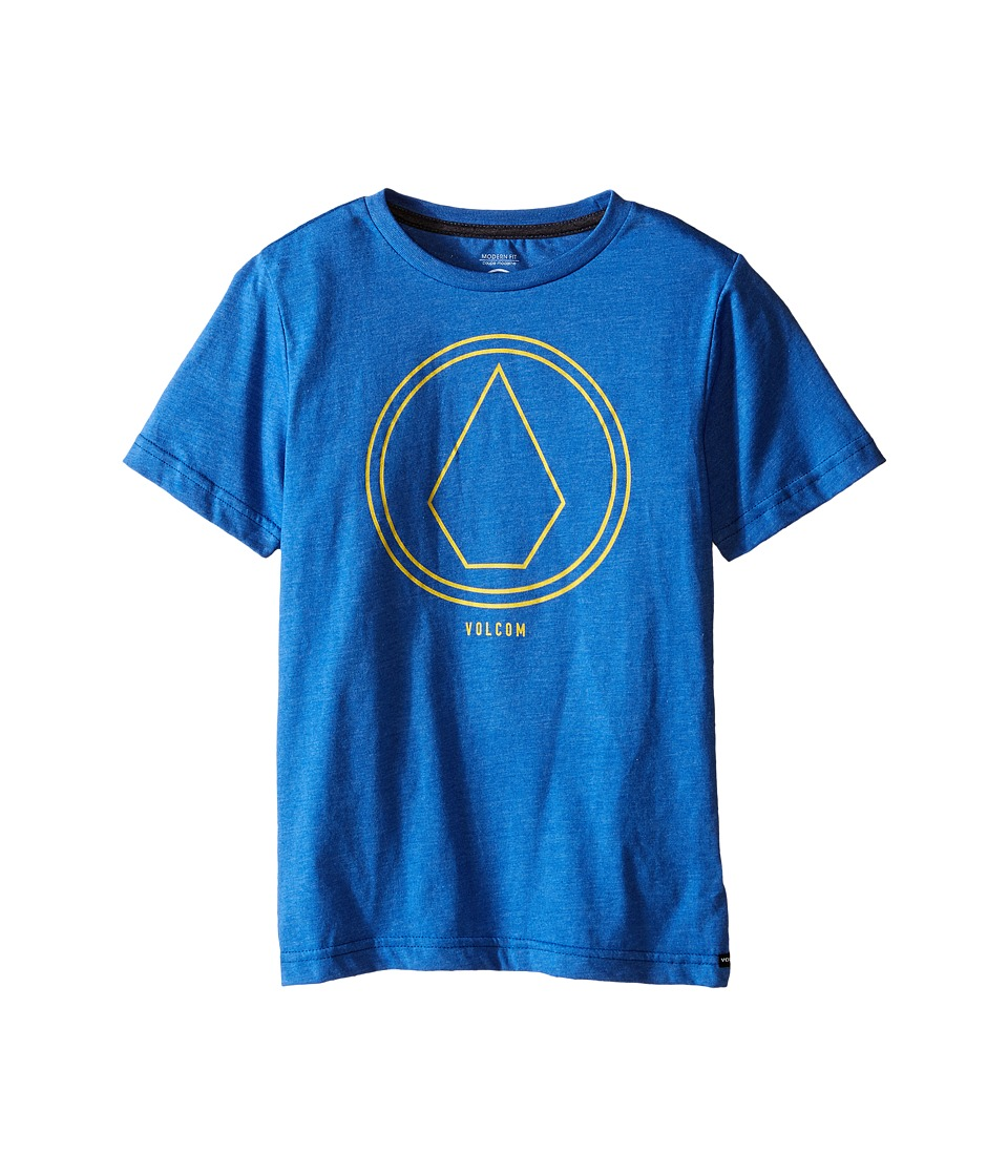 Volcom Kids - Pin Line Stone Short Sleeve Shirt (Big Kids) (Estate Blue Heather) Boy
