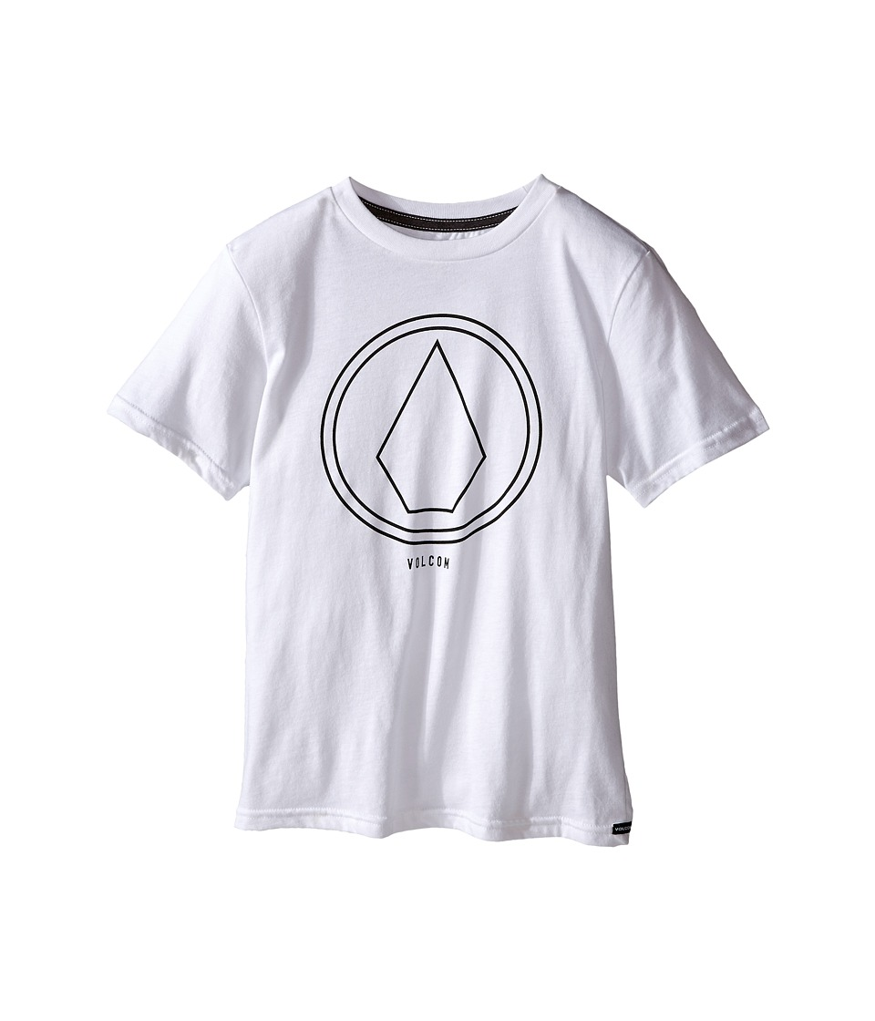 Volcom Kids - Pin Line Stone Short Sleeve Shirt (Big Kids) (White Heather) Boy's T Shirt