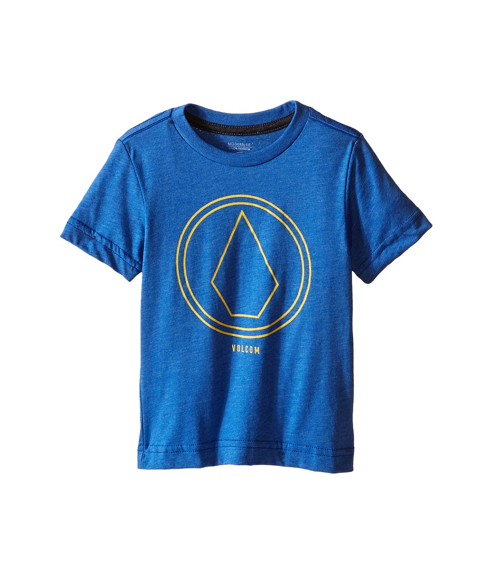 Volcom Kids - Pin Line Stone Short Sleeve Shirt (Toddler/Little Kids) (Estate Blue Heather) Boy's T Shirt