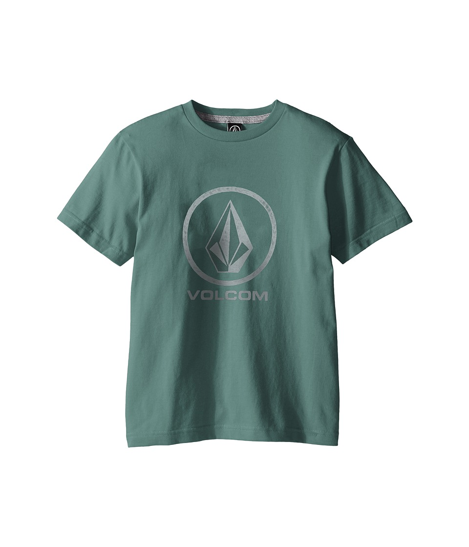 Volcom Kids - Fade Stone Short Sleeve Shirt (Big Kids) (Forest) Boy