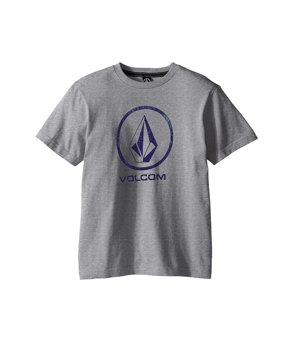 Volcom Kids - Fade Stone Short Sleeve Shirt (Big Kids) (Heather Grey) Boy's T Shirt