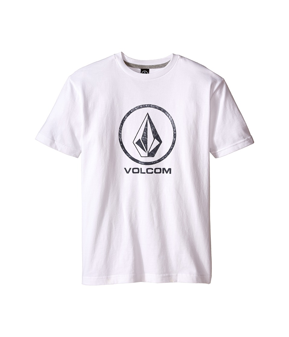 Volcom Kids - Fade Stone Short Sleeve Shirt (Big Kids) (White) Boy's T Shirt