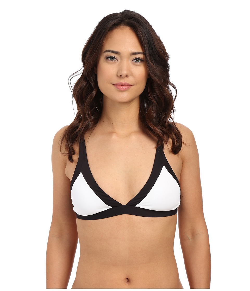 Seafolly - Block Party Fixed Tri Top (White) Women's Swimwear