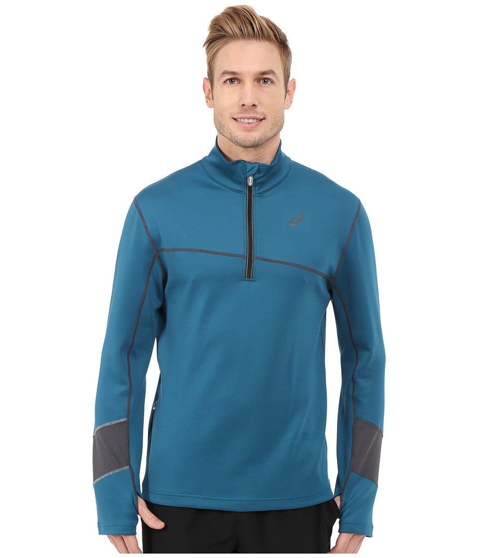 ASICS - Thermal XP 1/2 Zip (Mosaic Blue/Dark Grey) Men's Workout