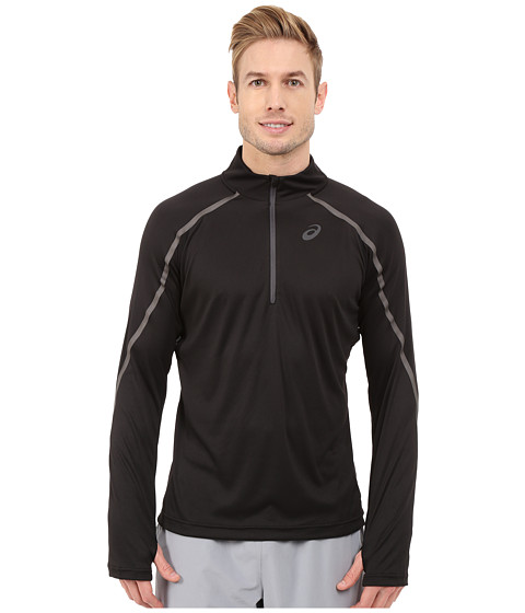 ASICS - Lite-Show Long Sleeve 1/2 Zip (Performance Black) Men's Long Sleeve Pullover