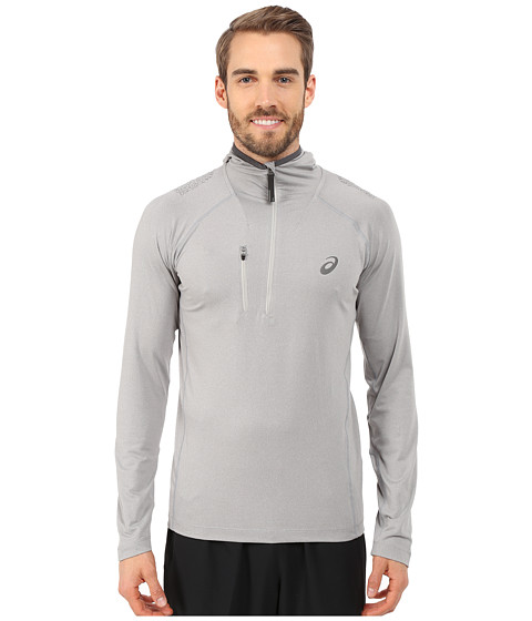 ASICS - FujiTrail 1/2 Hoodie (Heather Grey) Men's Sweatshirt