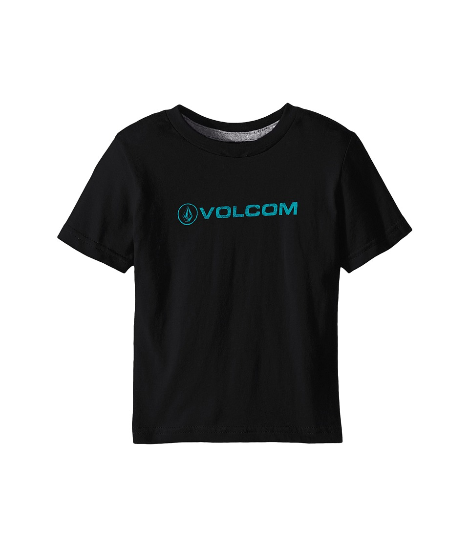 Volcom Kids - Euro Pencil Short Sleeve Shirt (Toddler/Little Kids) (Black) Boy's T Shirt