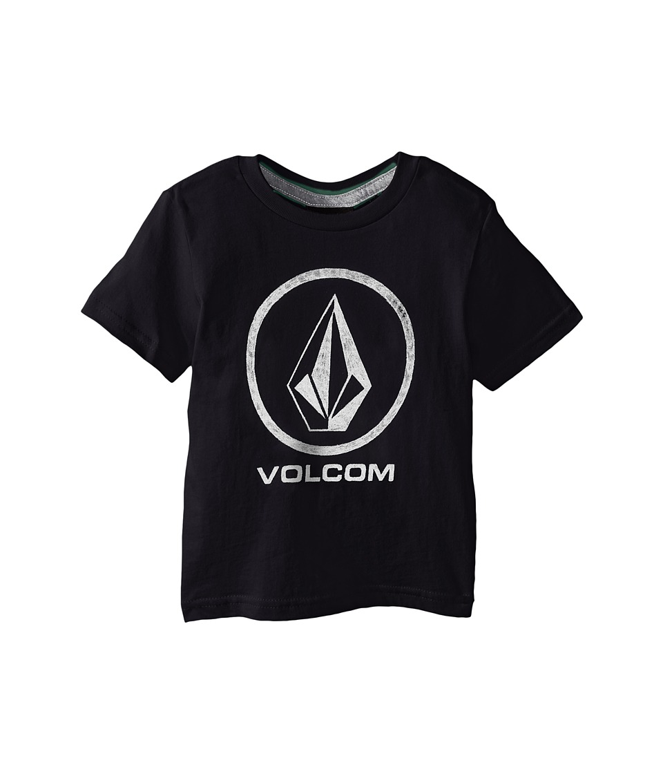 Volcom Kids - Fade Stone Short Sleeve Shirt (Toddler/Little Kids) (Black) Boy's T Shirt