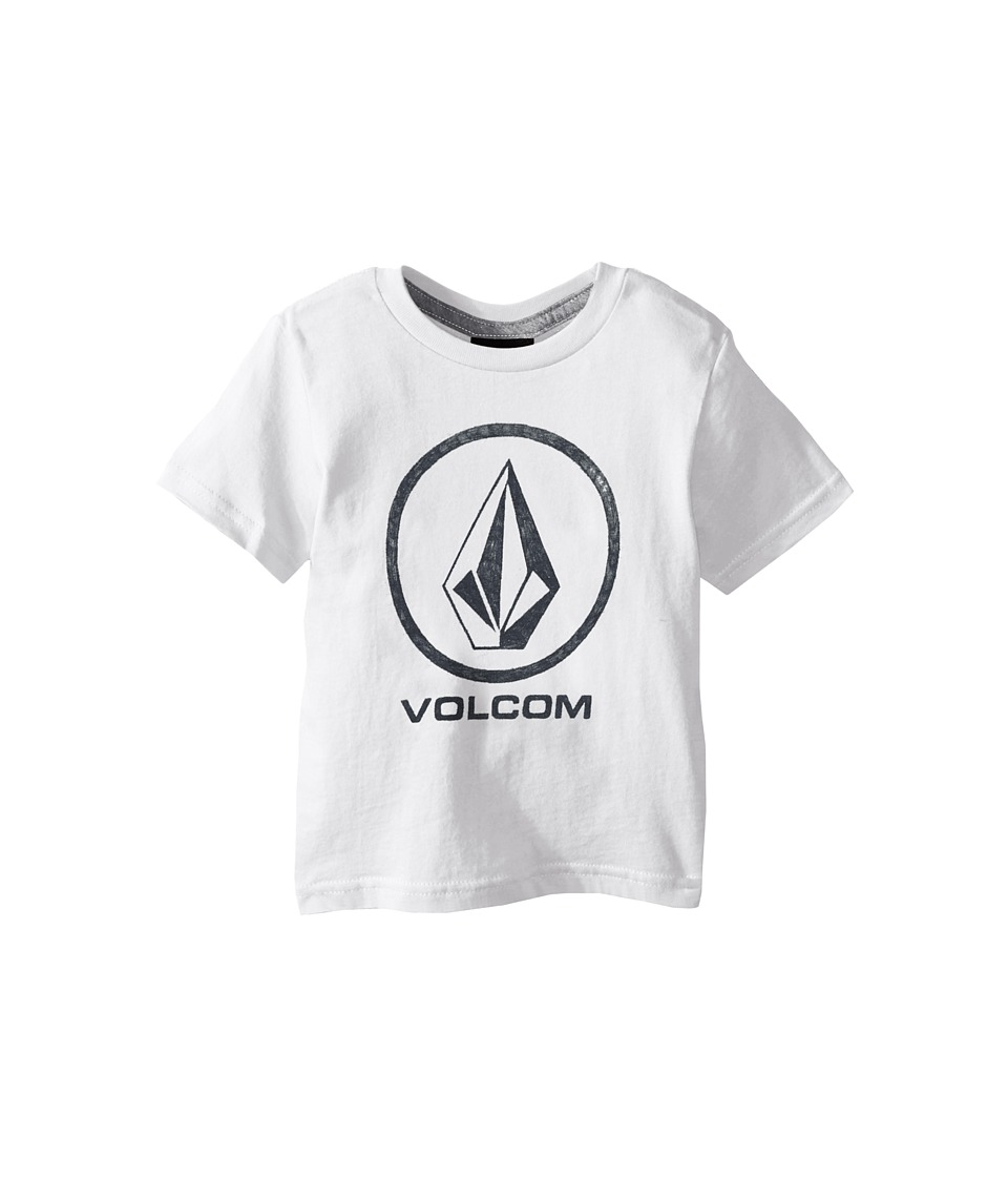 Volcom Kids - Fade Stone Short Sleeve Shirt (Toddler/Little Kids) (White) Boy's T Shirt