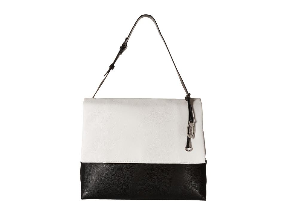 CARLOS by Carlos Santana - Hazel Shoulder (White/Black) Shoulder Handbags