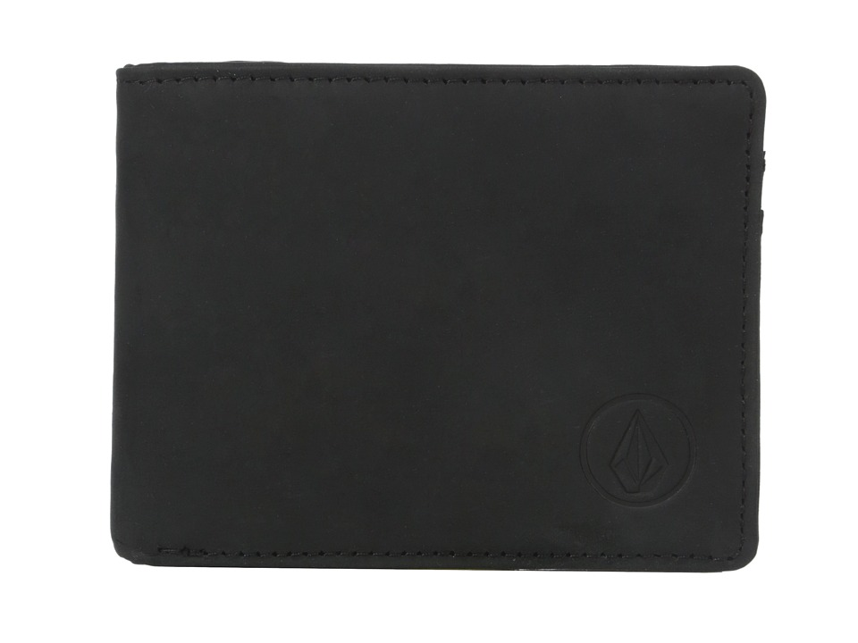 Volcom - Prime Leather Wallet (Black) Wallet Handbags