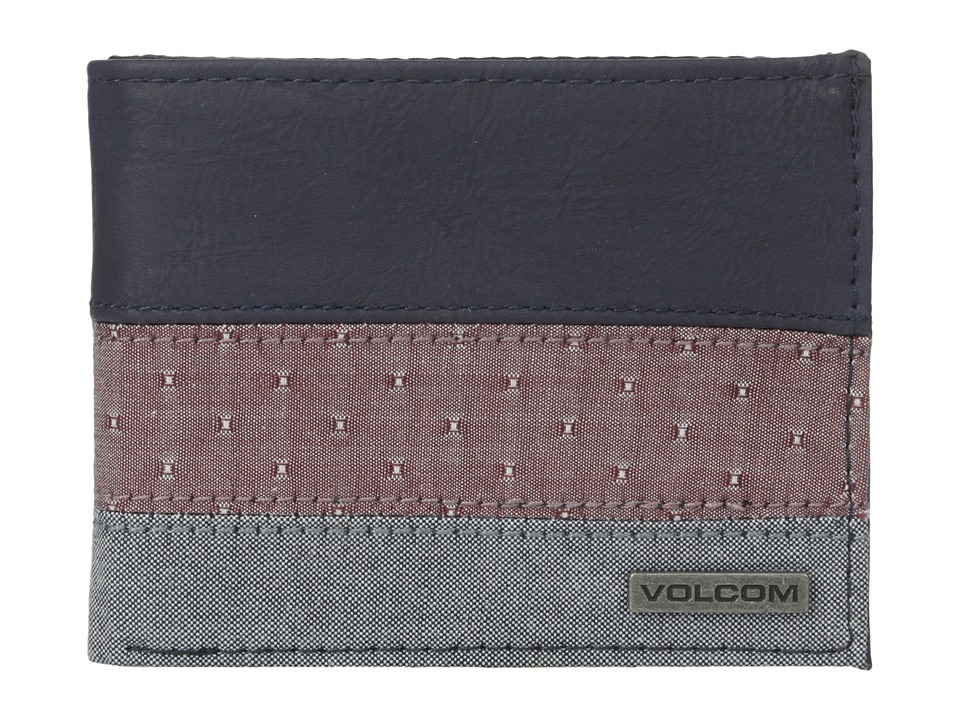 Volcom - Threezy Wallet (Navy) Wallet Handbags