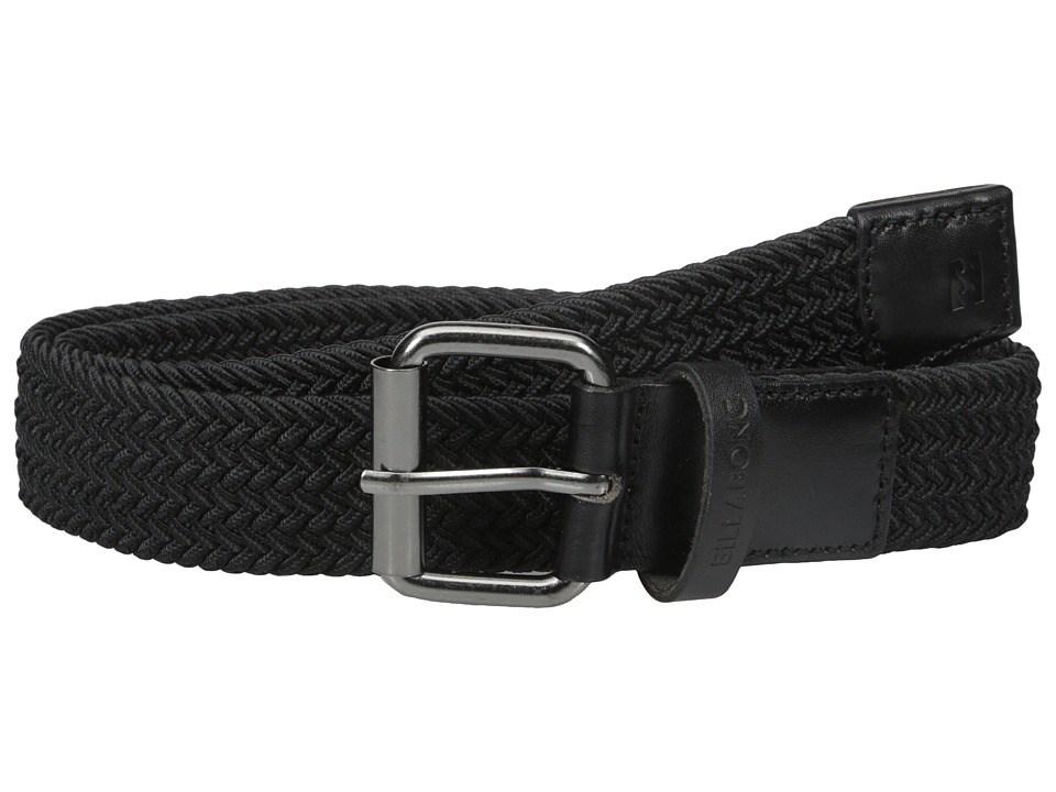 Billabong - Braided Leather Belt (Black) Men's Belts