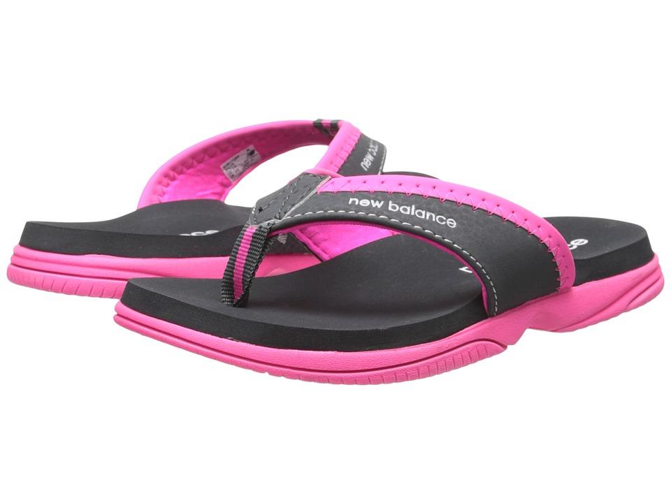 New Balance Kids - JoJo Thong (Little Kid/Big Kid) (Grey/Pink) Girls Shoes
