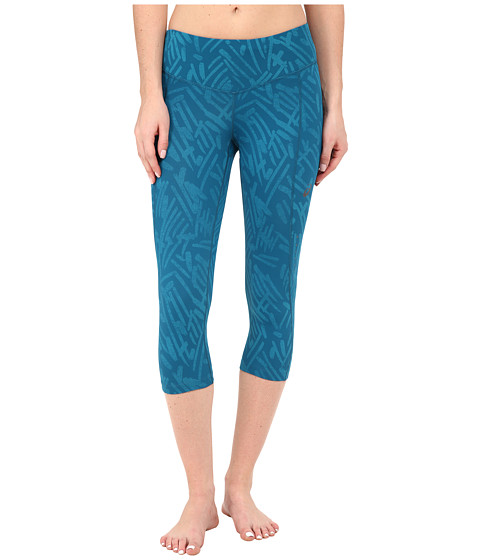 ASICS - Graphic Knee Tights (Mosaic Blue Palm) Women's Workout