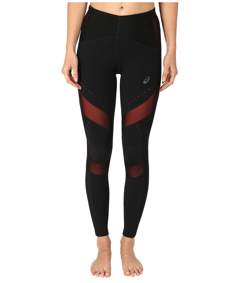 ASICS - Leg Balance Tights (Perforated Black/Living Coral) Women
