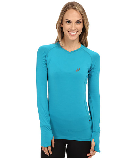 ASICS - FujiTrail Long Sleeve Top (Turkish Sea) Women's T Shirt