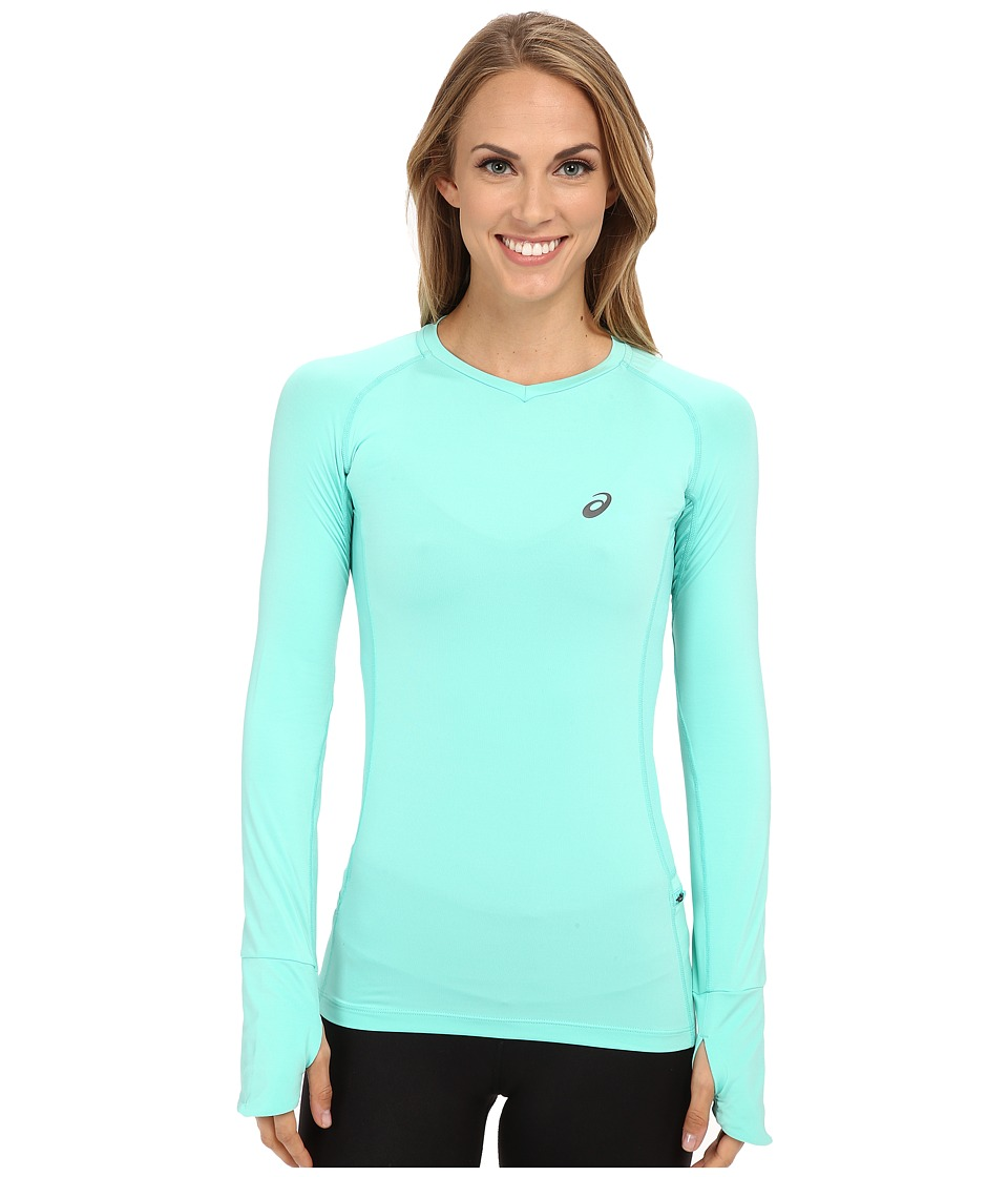 ASICS - FujiTrail Long Sleeve Top (Aqua Mint) Women's T Shirt