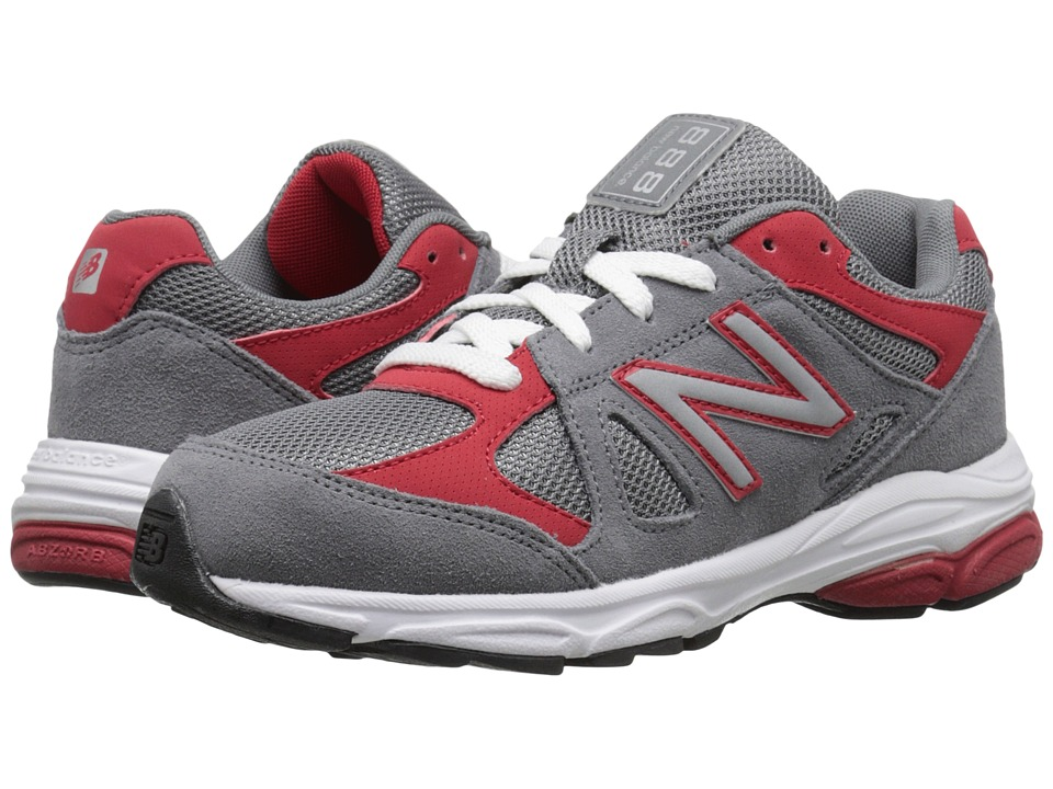 New Balance Kids - 888 (Big Kid) (Grey/Red) Boys Shoes