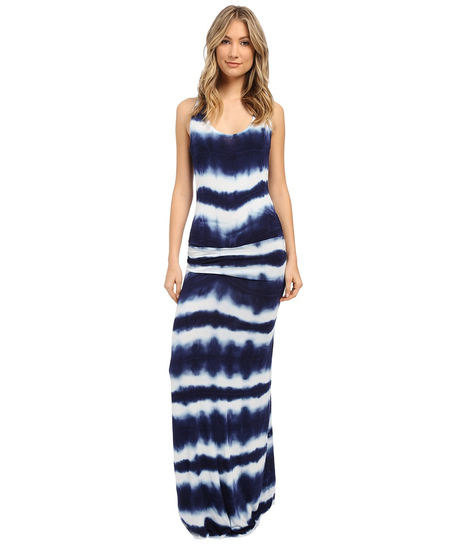 Young Fabulous & Broke - Hampton Maxi (Navy Shibori Stripe Wash) Women's Dress