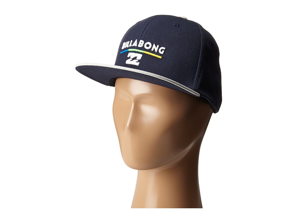 Billabong - System Snapback Hat (Big Kids) (Navy) Baseball Caps